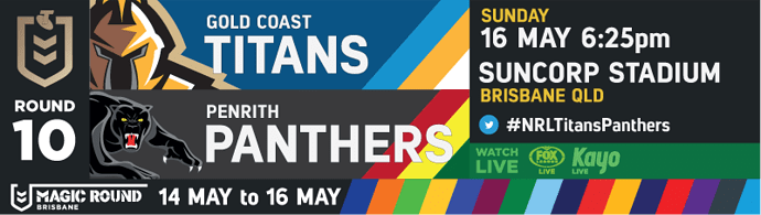 R10 Gold Coast Titans v Penrith Panthers