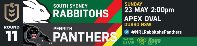 R11 South Sydney Rabbitohs v Penrith Panthers