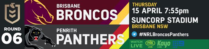 R6 Brisbane Broncos v Penrith Panthers