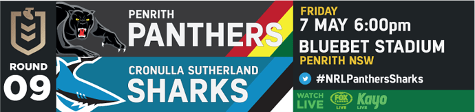 R9 Penrith Panthers v Cronulla Sharks