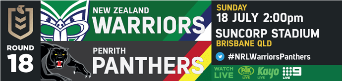 R18 New Zealand Warriors v Penrith Panthers