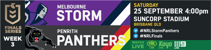 PF Melbourne Storm v Penrith Panthers