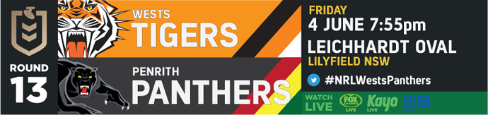 R13 Wests Tigers v Penrith Panthers