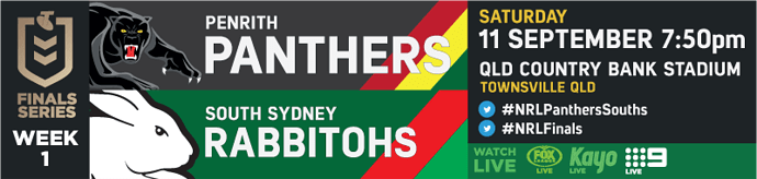 QF Penrith Panthers v South Sydney Rabbitohs
