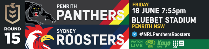 R15 Penrith Panthers v Sydney Roosters