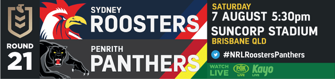 R21 Sydney Roosters v Penrith Panthers