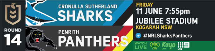 R14 Cronulla Sutherland Sharks v Penrith Panthers